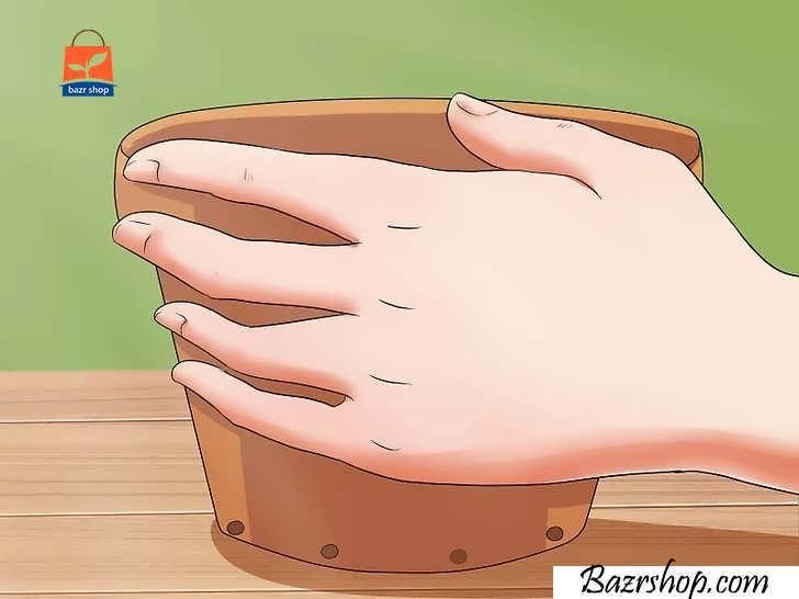 گلدانی تهیه کنید که ته آن سوراخ داشته باشد