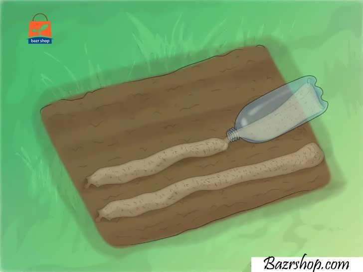 ماسه ها را به صورت ردیفی مستقیم روی خاک بریزیدماسه ها را به صورت ردیفی مستقیم روی خاک بریزید